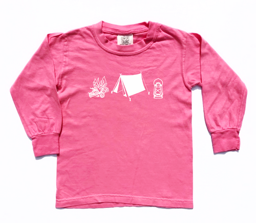 Happy Camper Pink — bright and durable children's clothes, with love from Tennessee!