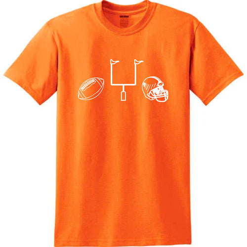 Football Gear on Orange — bright and durable children's clothes, with love from Tennessee!
