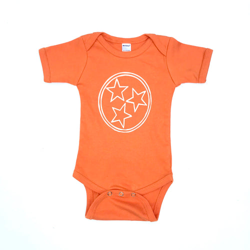 Tri Star Onesie — bright and durable children's clothes, with love from Tennessee!