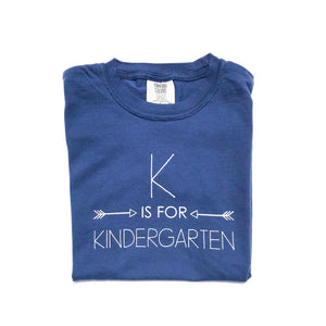 K is for Kindergarten Navy — bright and durable children's clothes, with love from Tennessee!