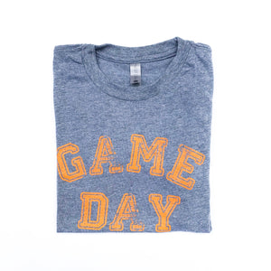 Youth Game Day Grey with Orange — bright and durable children's clothes, with love from Tennessee!