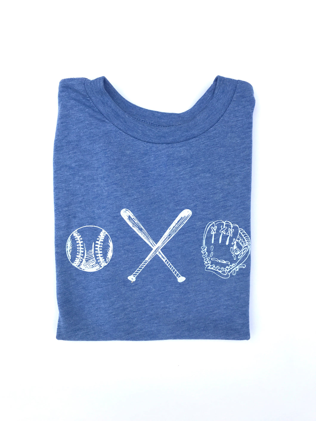 Baseball Trio on Blue — bright and durable children's clothes, with love from Tennessee!