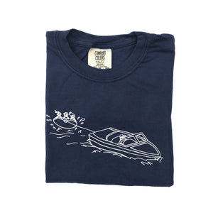 Water Tubers on Navy — bright and durable children's clothes, with love from Tennessee!