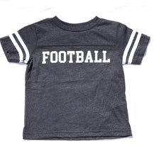 Ringer Fine Jersey Football Tee in Heather Grey — bright and durable children's clothes, with love from Tennessee!