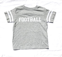 Ringer FOOTBALL in Heather Grey — bright and durable children's clothes, with love from Tennessee!