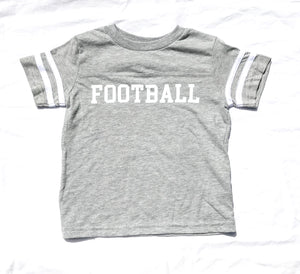 Ringer Fine Jersey Football Tee in Navy — bright and durable children's clothes, with love from Tennessee!