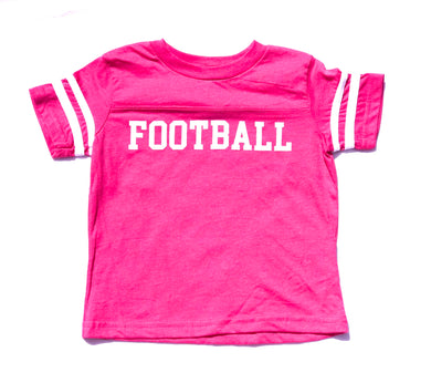 Ringer FOOTBALL in Fuchsia — bright and durable children's clothes, with love from Tennessee!