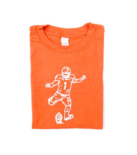 Kicker Long Sleeve Orange — bright and durable children's clothes, with love from Tennessee!
