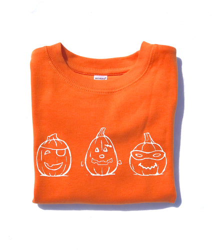Spookly Pumpkins on Orange — bright and durable children's clothes, with love from Tennessee!