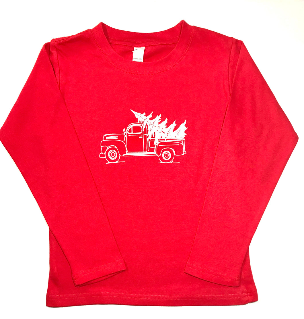Christmas Tree Truck Red
