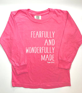 Fearfully & Wonderfully Made on Pink — bright and durable children's clothes, with love from Tennessee!