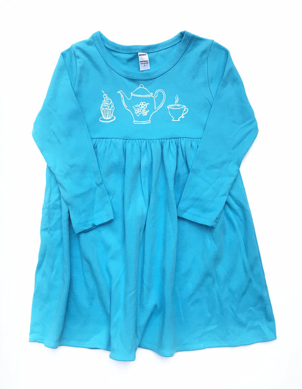 Tea Set Empire Dress — bright and durable children's clothes, with love from Tennessee!