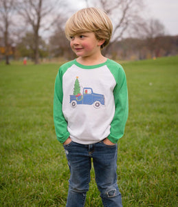 Vintage Christmas Truck — bright and durable children's clothes, with love from Tennessee!