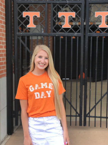 Orange Game Day Tee — bright and durable children's clothes, with love from Tennessee!