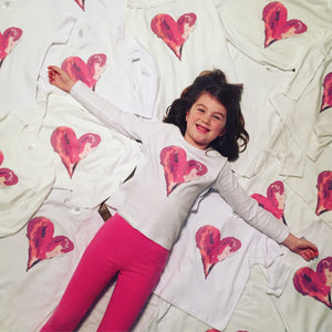 Watercolor Heart — bright and durable children's clothes, with love from Tennessee!