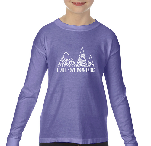 Move Mountains Violet — bright and durable children's clothes, with love from Tennessee!