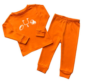 Football Gear Pajamas — bright and durable children's clothes, with love from Tennessee!