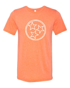 Orange Tri Star — bright and durable children's clothes, with love from Tennessee!