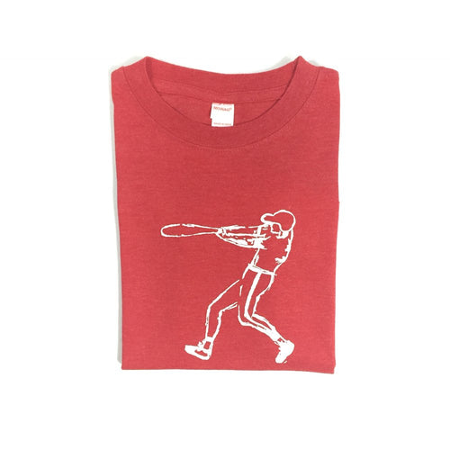 Red Baseball Player — bright and durable children's clothes, with love from Tennessee!