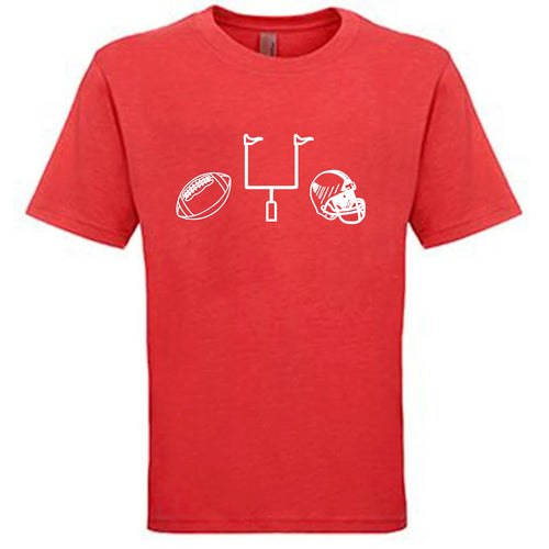 Football Gear on Red — bright and durable children's clothes, with love from Tennessee!
