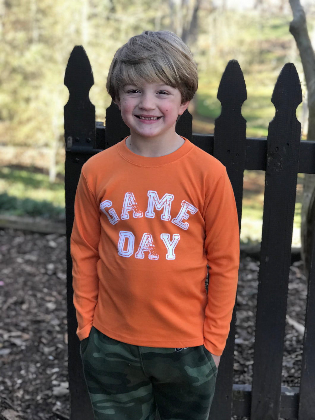 Game Day Orange Long Sleeve
