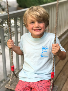 ABC tee on Navy — bright and durable children's clothes, with love from Tennessee!