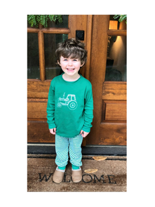 Tractor Pajamas — bright and durable children's clothes, with love from Tennessee!