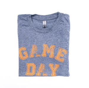 Gray Game Day Tee — bright and durable children's clothes, with love from Tennessee!