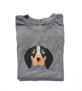 New Hound Dog on Charcoal — bright and durable children's clothes, with love from Tennessee!