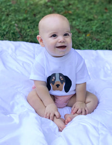 Hound dog baby — bright and durable children's clothes, with love from Tennessee!
