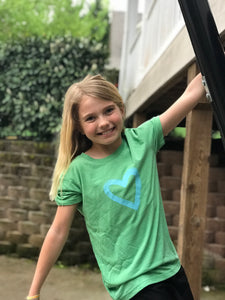 Kindess Heart on Green — bright and durable children's clothes, with love from Tennessee!