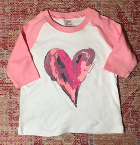 Watercolor Light Pink Raglan
