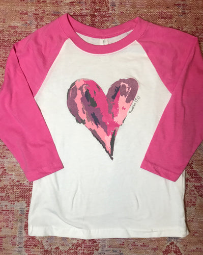 Watercolor Hot Pink Raglan