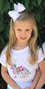 Flower Bunny Tee — bright and durable children's clothes, with love from Tennessee!