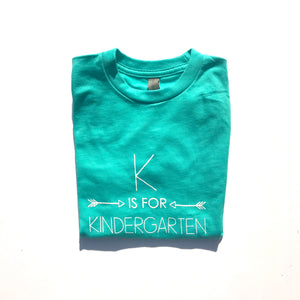 K is for Kindergarten on Tahiti Blue