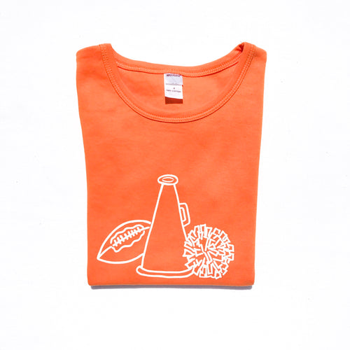 Cheer Gear on Orange — bright and durable children's clothes, with love from Tennessee!