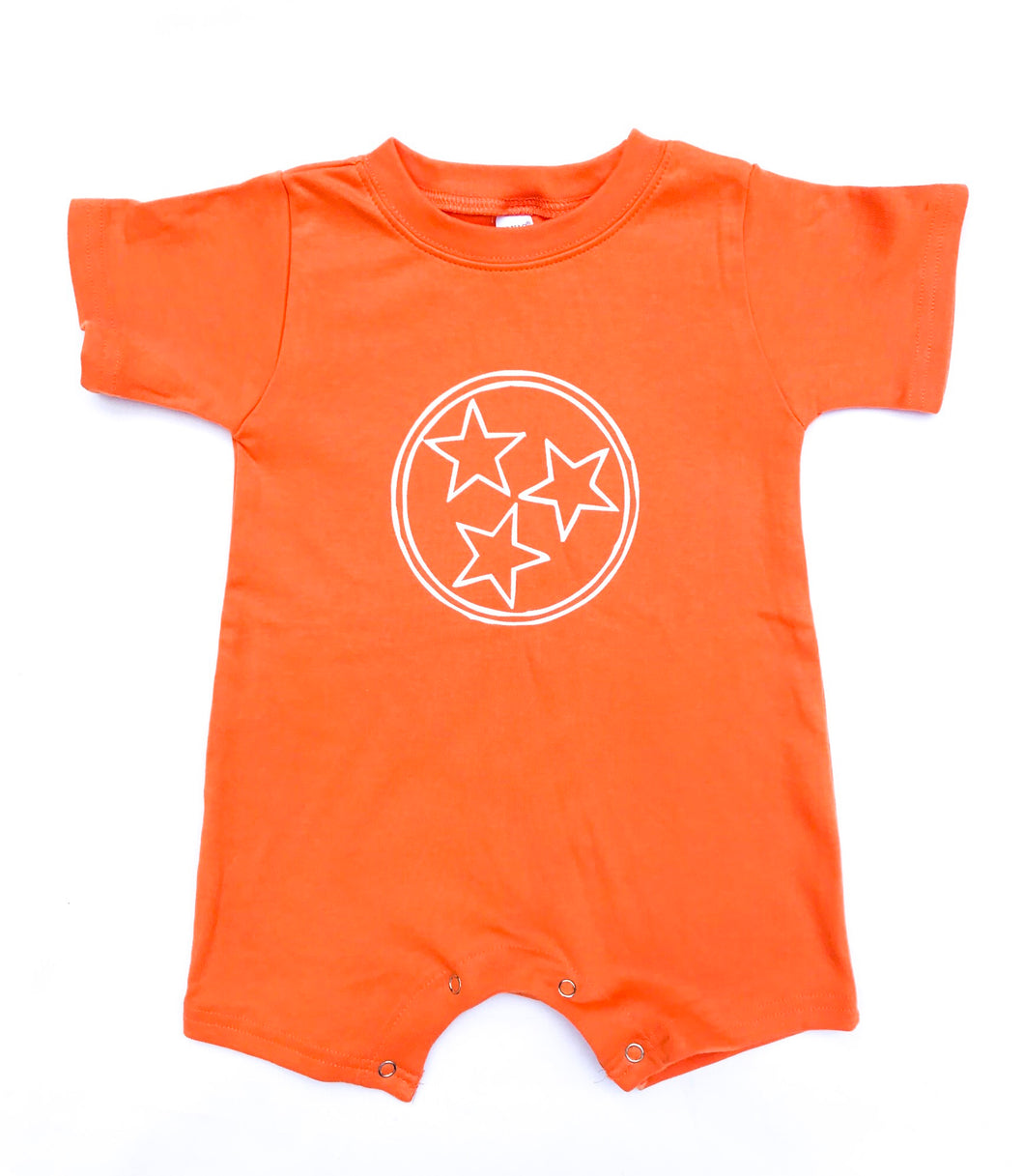 Tri Star Romper — bright and durable children's clothes, with love from Tennessee!