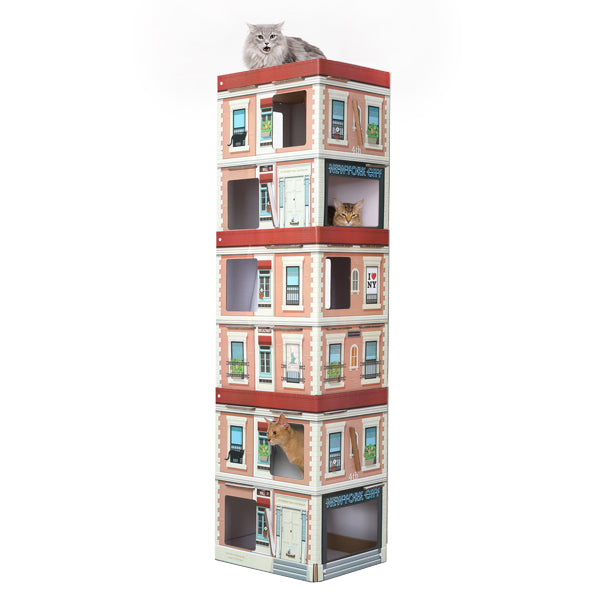 "80"" 6 Level Cat Condo Playhouse"