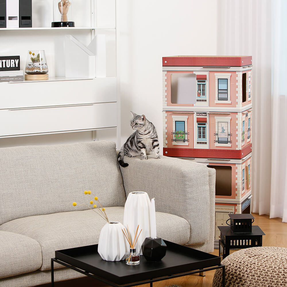 "52"" 4 Level Play Cat Condo New York Tower"