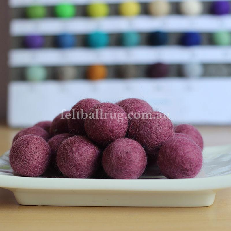 Felt Ball Lilac 1 CM,  2 CM, 2.5 CM, 3 CM, 4 CM Colour 16 - Felt Ball Rug USA - 1