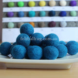 Felt Ball Sky Blue 1 CM,  2 CM, 2.5 CM, 3 CM, 4 CM Colour 32 - Felt Ball Rug Australia - 1