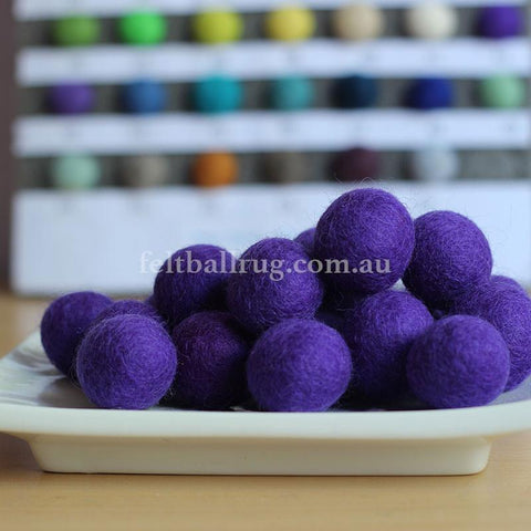 Felt Ball Purple Haze 1 CM,  2 CM, 2.5 CM, 3 CM, 4 CM Colour 42 - Felt Ball Rug Australia - 1