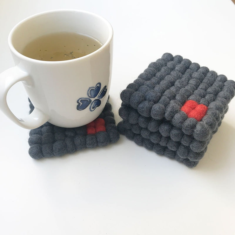 felt ball coaster square