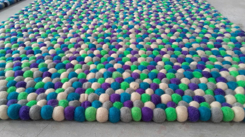 Rectangle Felt Ball Rug Custom Made - Felt Ball Rug Australia - 3