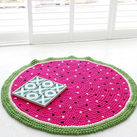 Watermelon Crush Felt Ball Rug - Felt Ball Rug Australia - 1