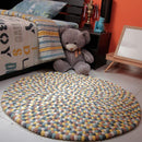Autumn Felt Ball Rug