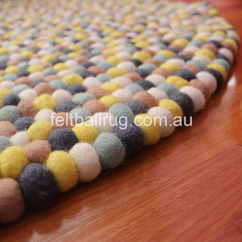 Autumn Felt Ball Rug - Felt Ball Rug USA - 4