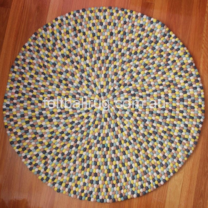 Autumn Felt Ball Rug - Felt Ball Rug USA - 2