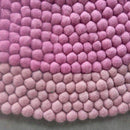 Berry Blush Felt Ball Rug