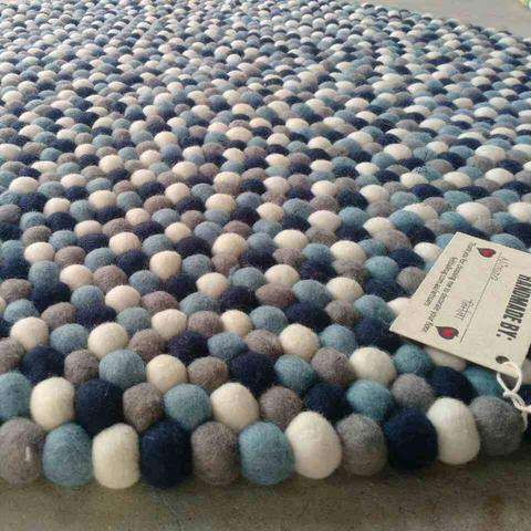 Storm Cloud Felt Ball Rug